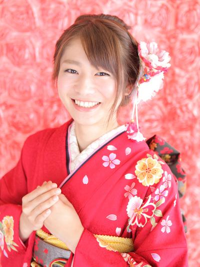 赤い振袖を神戸の成人式でレンタル