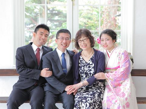 神戸のスタジオで家族撮影