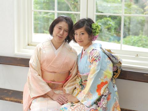 母と娘で成人式の前撮り