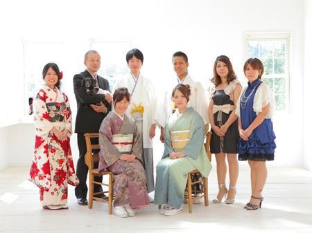えり正のおかげで、家族写真を撮ることができ、素敵な二十歳の記念日になりました。|神戸の成人式