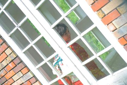 赤色の振袖_神戸の成人式の撮影会