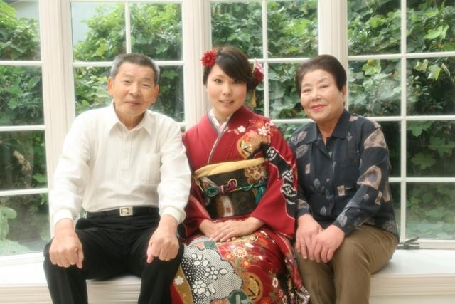 祖父母との撮影が、嬉しかったです。