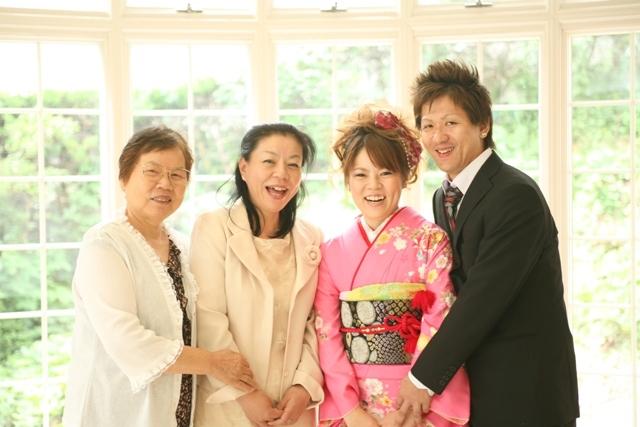 幸せな家族写真